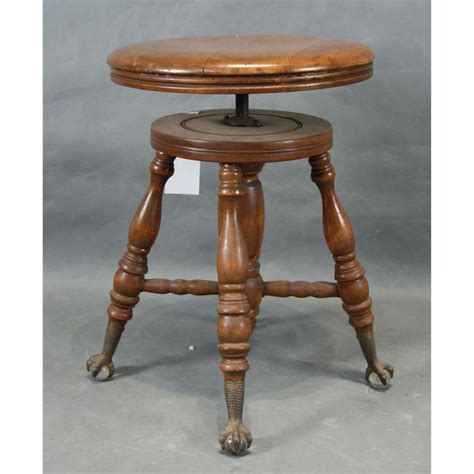 Organ Stool by Antique Piano Bench For Sale Images