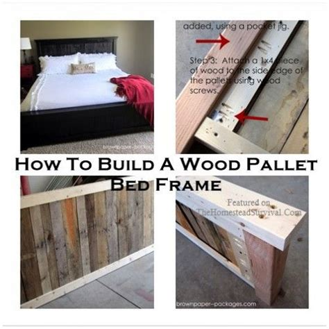 how to make a pallet bed frame 17 best ideas about pallet bed frames on pinterest diy