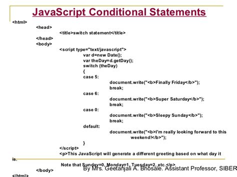 switch javascript switch statement javascript phpsourcecode net