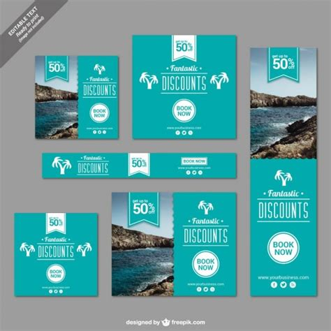 design banner tour discounts banners for travelling vector free download