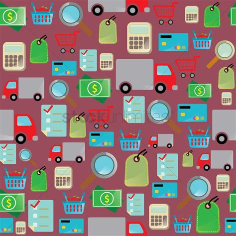 design your background online online shopping theme background vector image 1287527