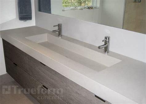 Diy Concrete Trough Sink by 17 Best Images About Concrete Bathrooms On