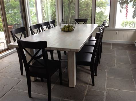 white washed kitchen table white washed farm table