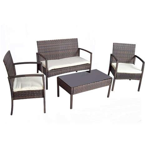 Wicker Furniture Nj by Greenfingers Jersey Rattan Sofa 2 Chairs 85cm Rectangular Lounge Set