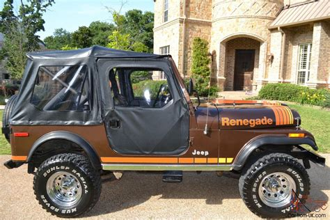 brown jeep cj7 renegade brown excellent condition original paint job
