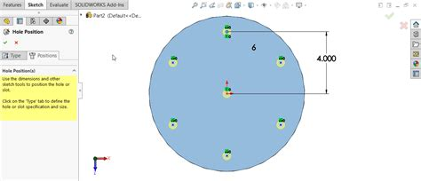 solidworks circular pattern solidworks hole wizard with circular sketch pattern
