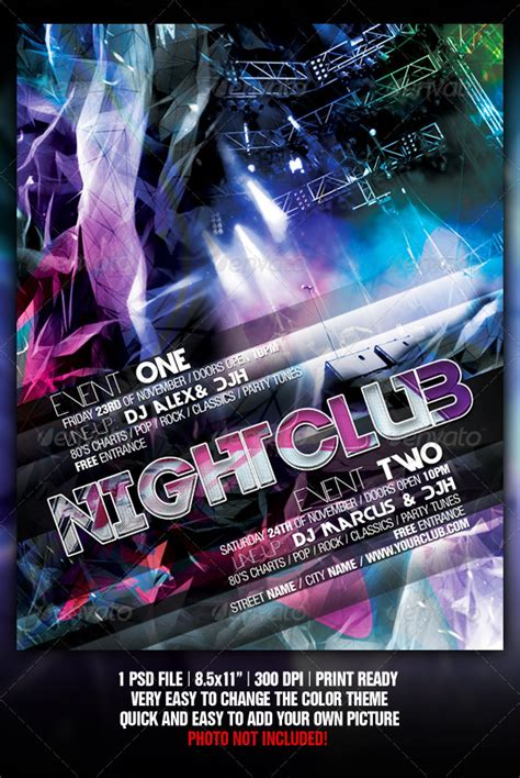 Hgtv Home Design Software 5 0 Abstract Night Club Party Concert Flyer Poster Graphicriver