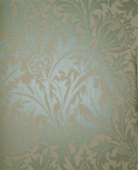 flower wallpaper duck egg thistle wallpaper irridescent duck egg print on beige