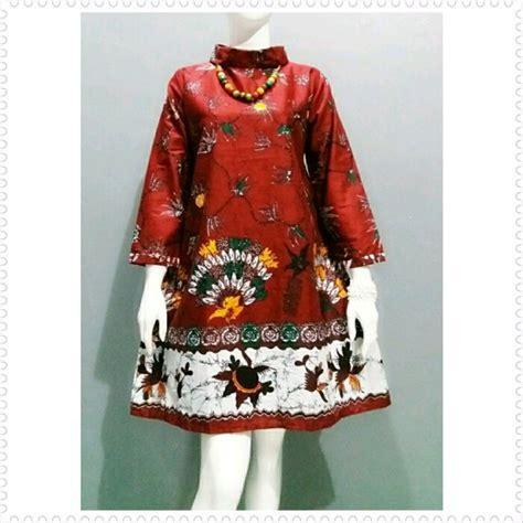 jual dress tunik batik jumbo  lapak mega batik cantik