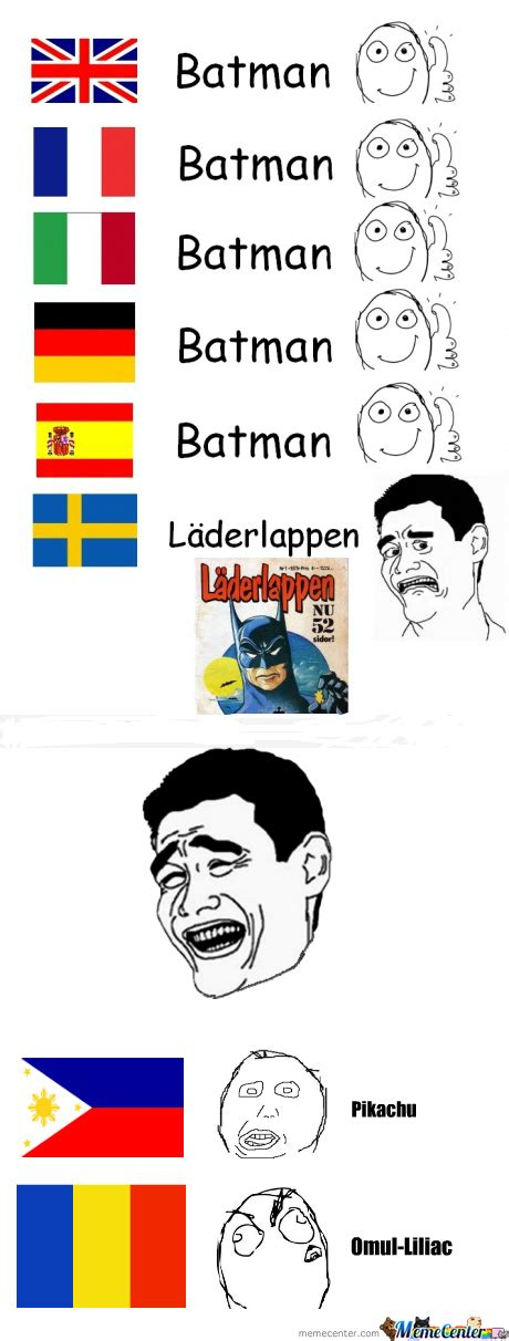 Old Language Meme - rmx batman in different languages by gxz95 meme center