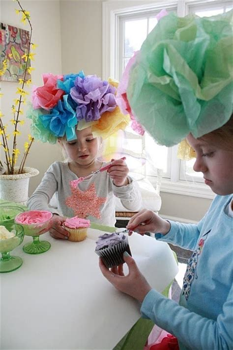 How To Make Tissue Paper Hats - tea i need one of those hats to wear to the shop