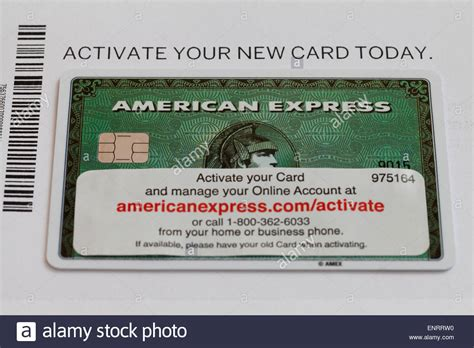 How To Activate A American Express Gift Card - new american express card with activation information usa stock photo royalty free