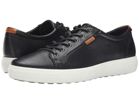 ecco sneakers mens ecco shoes discounted ecco soft vii sneaker mens black