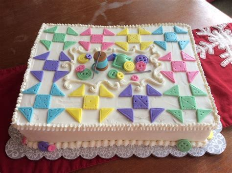 Cake Decorating Guild by Quilt Themed Cake For Quilting Guild Half