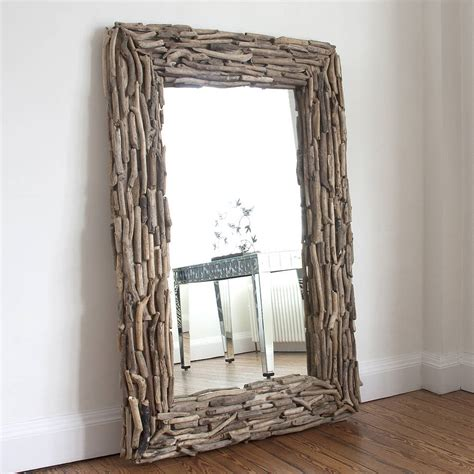 Decoration Mirrors Home large rectangular driftwood mirror by decorative mirrors