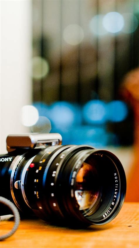 sony bokeh cameras objects nex  wallpaper