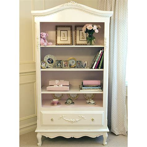 bonne nuit french bookcase with pink accents and luxury