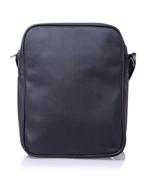 black pattern luggage fred perry pattern man bag in black for men lyst