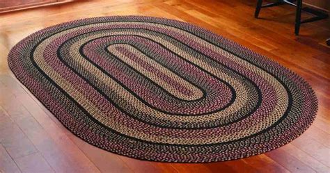 large oval rug blackberry braided jute rug runner oval 22 x 72 in allysons place