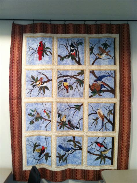 Quilt Patterns With Birds by Applique Bird Quilt Quilts