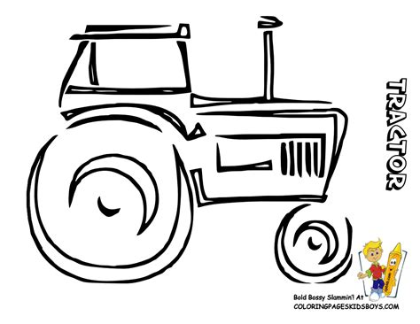 Big Boss Tractor Coloring Pages To Print Free Tractors Farm Tractor Coloring Pages