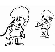 Junge Und Maedchen Telefonieren Ausmalbild &amp Malvorlage