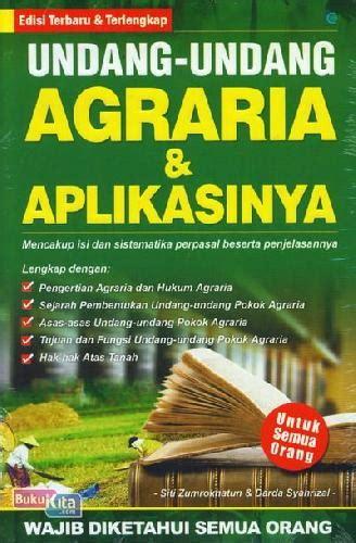 bukukita undang undang agraria aplikasinya edisi terbaru terlengkap