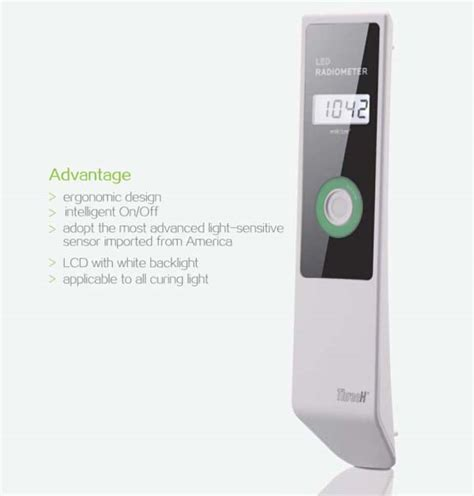 dental curing light radiometer dental led radiometer for curing light