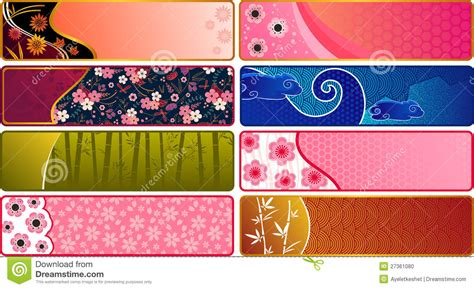 banner design japan japanese banners stock photo image 27361080