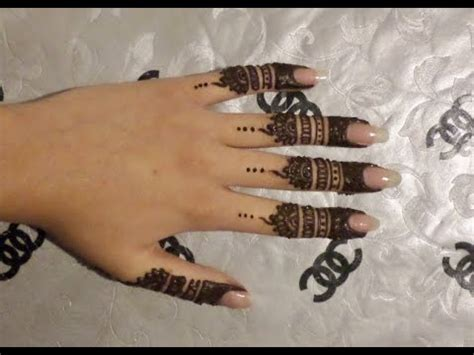 finger henna design youtube