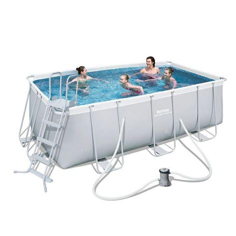 best way piscina piscina bestway rectangular frame 412x201x122cm jardinitis