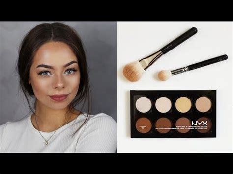 tutorial makeup nyx indonesia nyx contour highlight pro palette beauty on a budget