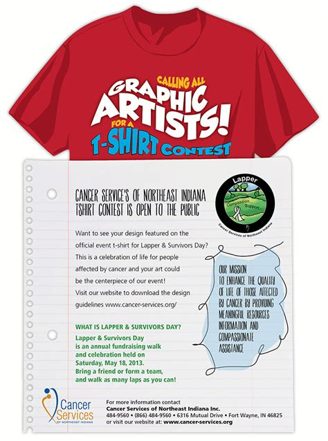 Fundraiser Cancer Services Northeast Indiana T Shirt Fundraiser Flyer Template