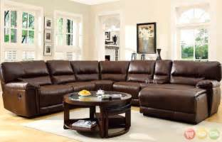 Sectional W Chaise Lounge Blythe Bonded Leather Sectional Sofa W Reclining Chaise