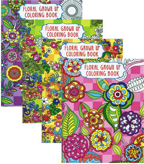 coloring books for adults wholesale wholesale floral coloring book for adults sku 1995931