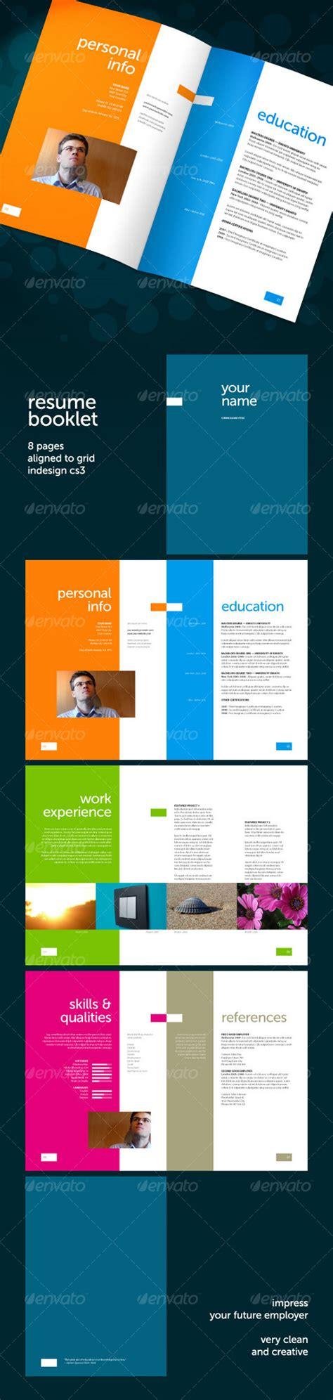cv booklet design get your dream job 15 clean elegant resume templates