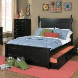 trundle bedroom sets homelegance morelle 3 piece captain s bedroom set w trundle in black beyond stores