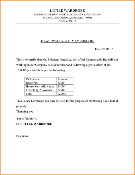 Income Certificate On Letterhead search results for business thank you letter template