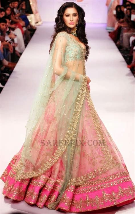 At Lfw by Nargis Fakhri In Anushree Reddy Lehenga At Lfw Winter