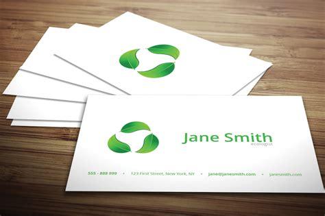eco business card templates eco minimal business card business card templates on
