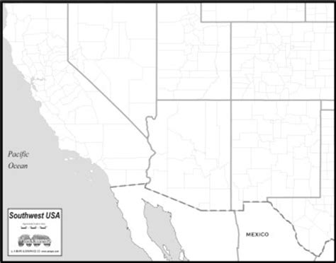united states southwest region map southwest usa map to print
