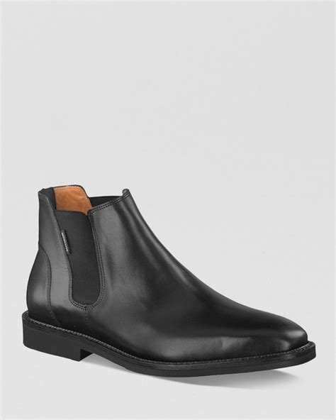 mephisto boots mephisto chelsea boots in black for lyst