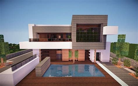modern home design and build squared modern home minecraft house design
