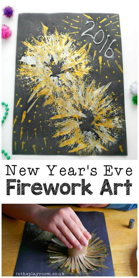 New Year Paper Crafts - new year s fireworks craft toilets fireworks