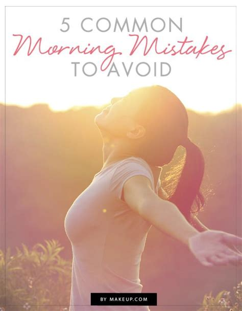 5 Mistakes To Avoid by 5 Common Morning Mistakes To Avoid Weddbook