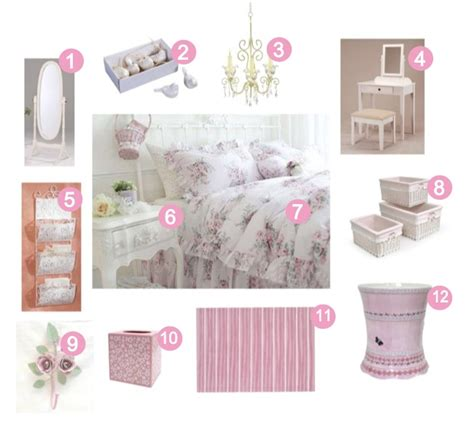 Girly Decor by Girly Bedrooms Pink And White Shabby Chic Bedroom Decor