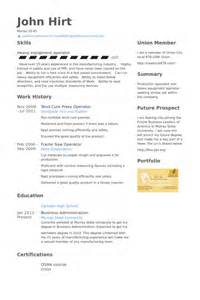 press operator resume samples visualcv resume samples