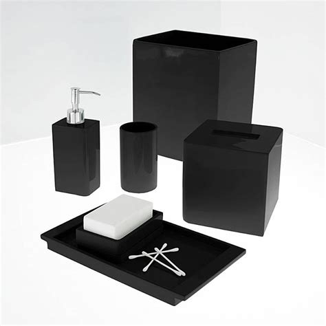 Black Bathroom Accessories by Lacca Black Bath Accessories By Kassatex Gracious Style