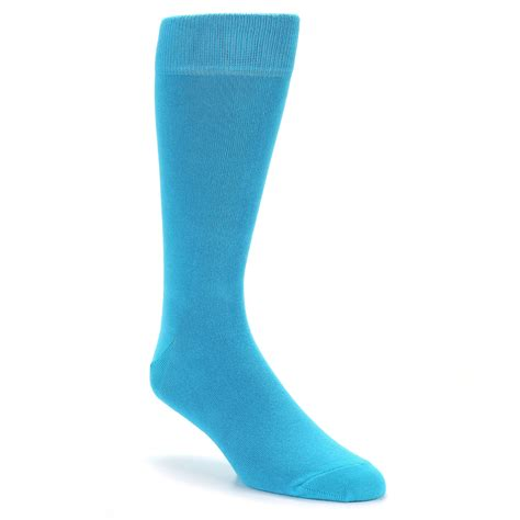 malibu blue solid color socks mens dress socks boldsocks