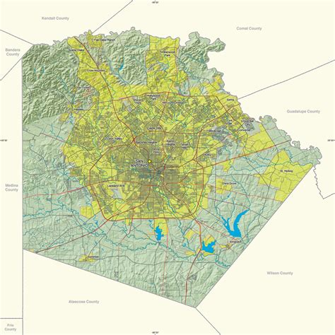 map of bexar county texas 1 site offers gis resources for texas counties